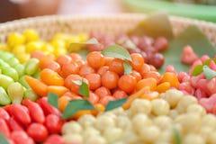 Chapeamento de alimentos de Tailândia, choop da sobremesa do olhar, imagem de stock royalty free