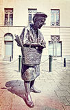 Chapeau女士雕象在布鲁塞尔 免版税库存图片