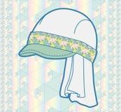 Chapeau avec le modèle géométrique Photo libre de droits