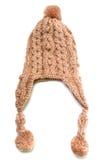 Chapeau beige de knit Image libre de droits