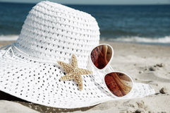 Chapeau blanc Photos stock