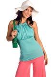 Chapeau blanc Latina Photographie stock libre de droits