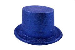 Chapeau bleu d'isolement sur le blanc Images libres de droits