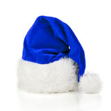 Chapeau bleu du père noël Photo stock
