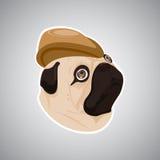 Chapeau brun de chien Photos stock