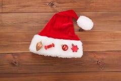 Chapeau Claus de Santa Image stock