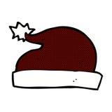 chapeau comique de Santa de bande dessinée Photographie stock libre de droits