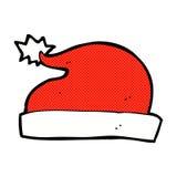chapeau comique de Santa de bande dessinée Photo libre de droits