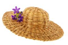 Chapeau d'été de paille Image libre de droits