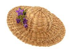 Chapeau d'été de paille Photo libre de droits