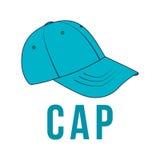 Chapeau d'icône Image de vecteur de la coiffe Images libres de droits
