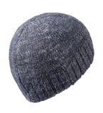 Chapeau d'isolement sur le fond blanc chapeau tricoté Chapeau coloré Images stock