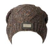 Chapeau d'isolement sur le fond blanc chapeau tricoté Chapeau coloré Image libre de droits
