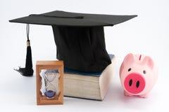 Chapeau d'obtention du diplôme Photos libres de droits