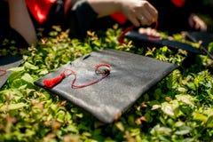Chapeau d'obtention du diplôme Photos stock