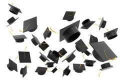 Chapeau d'obtention du diplôme sur le fond blanc illustration de vecteur