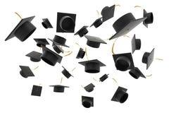 Chapeau d'obtention du diplôme sur le fond blanc illustration libre de droits