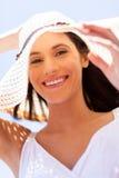 Chapeau d'été de Madame Photo stock