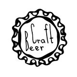 Chapeau de bouteille à bière Croquis de style de griffonnage Vecteur Photographie stock libre de droits