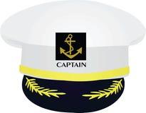 Chapeau de capitaine sur le fond blanc illustration libre de droits
