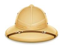 Chapeau de casque de moelle pour le safari illustration libre de droits