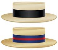 Chapeau de chapeau en paille Image libre de droits