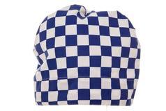Chapeau de chef de contrôle de bleu et de blanc Photo stock