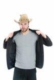 Chapeau de cowboy américain à disposition d'homme d'affaires Image libre de droits