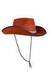 Chapeau de cowboy d'isolement avec la courroie Photo stock