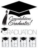 Chapeau de diplômés de félicitations illustration de vecteur