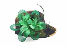Chapeau de fantaisie de modèle de camouflage Image stock