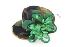 Chapeau de fantaisie de modèle de camouflage Photo stock