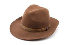 Chapeau de feutre de chapeau feutré de Brown Images stock