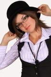 chapeau de fille ses jeunes de fixation Images libres de droits