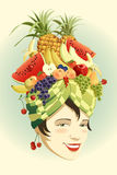 chapeau de fruit Images stock