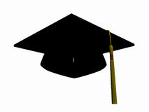 Chapeau de graduation. Photographie stock
