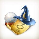 Chapeau de magicien, illustration de vecteur illustration stock