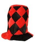Chapeau de mascarade de rouge et de noir Images libres de droits