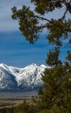 Chapeau de neige de montagne Image stock