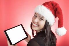 Chapeau de Noël de femme images stock