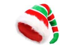 Chapeau de Noël Elf Au-dessus du blanc Photos libres de droits
