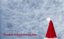 Chapeau de Noël, flocon de neige, tissu de fibre et film de scintillement, fond Image libre de droits