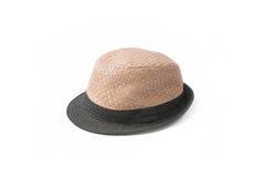 Chapeau de paille, chapeau de paille brun Image stock