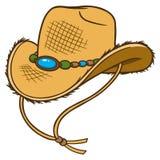 Chapeau de paille de cowboy Photos libres de droits