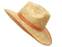Chapeau de paille fabriqué à la main pour les hommes Photos stock