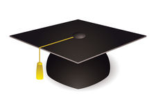 Chapeau de panneau de mortier de graduation Photo stock