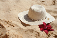 Chapeau de plage Photo stock
