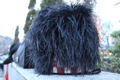 Chapeau de plume d'autruche photographie stock
