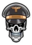 Chapeau de port de soldat de crâne illustration de vecteur
