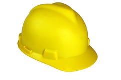 Chapeau de sécurité dans la construction images stock